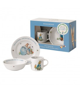 Wedgwood Peter Rabbit Nurseryware Geschenk-Set 3-tlg. Boys