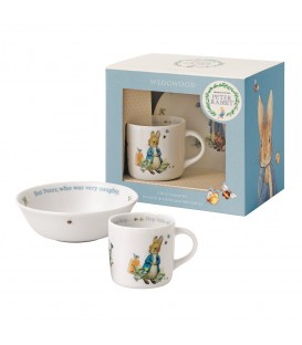 Wedgwood Peter Rabbit Nurseryware Geschenk-Set 2-tlg. Boys