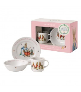 Wedgwood Peter Rabbit Nurseryware Geschenk-Set 3-tlg. Girls