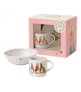 Wedgwood Peter Rabbit Nurseryware Geschenk-Set 2-tlg. Girls